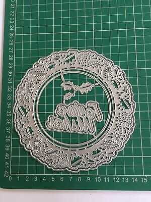 Large 7pcs Doily Die Set 'Festive Wishes' Brand New Fast Free Postage • 10£