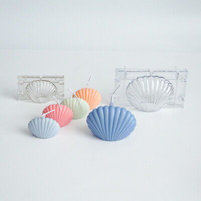 3D Seashell Shell Plastic Candle Mold Candle Making Wax Mould Soap Mold DIY UK • 6.56£