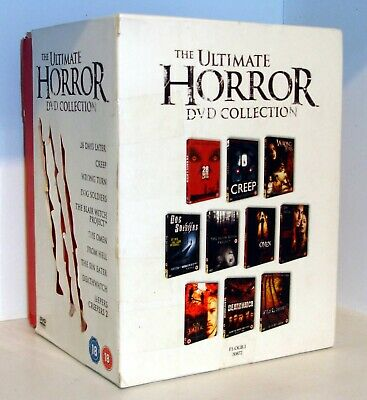 The ULTIMATE HORROR DVD Collection Box Set - 10 Films - Region 2 - Rated 18 • 20£