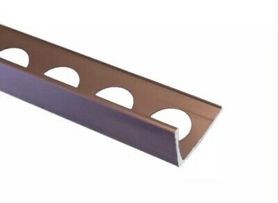 £20 • Buy 4x Brushed Copper Straight Edge Tile Trim - 2.5m Pieces