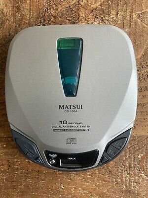 Matsui Personal CD PLAYER Working Perfectly Anti Shock • 10£