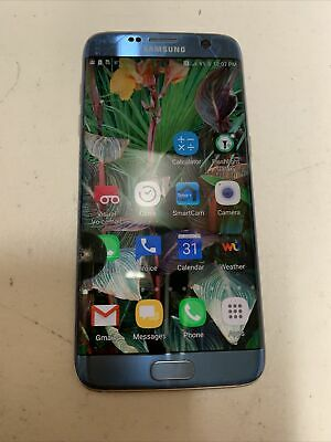 $ CDN88.57 • Buy Samsung Galaxy S7 Edge SM-G935 - 32GB - Blue Onyx T Mobile Smartphone Locked