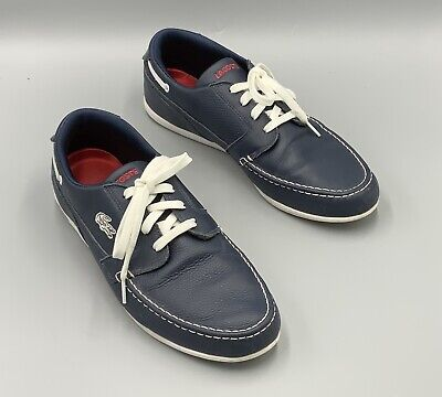 Lacoste Men's Dreyfus Leather Low Top Lace Up Sneaker Navy Blue Size 10.5 • 19.29£