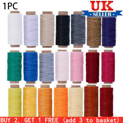 £3.76 • Buy UK 50Meters 150D Leather Waxed Thread Cord Sewing Line For DIY Handicraft