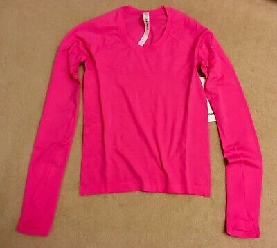 $ CDN159.99 • Buy Lululemon Swiftly Tech Long Sleeve 2.0 RACE Length Highlight Pink 4 Or 6