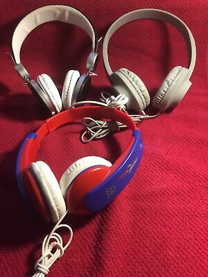 Headphone Bundle Of 3 All Working Including Kids JVC • 9£