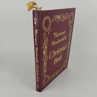 $ CDN57.25 • Buy Easton Press Norman Rockwell's Christmas Book 1977  FINE Leather Bound