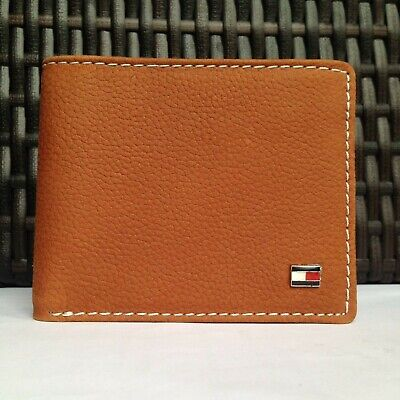£17.99 • Buy Mens Leather Wallet 'Tommy Hilfiger' Brown, Bifold, Coin Pouch, Card Slot