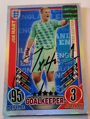 £99.95 • Buy  Match Attax England Euro 2012 Joe Hart Signed Authentic Limited Edition Rare!!