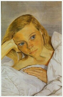 Girl In Bed Lucian Freud Print In 11 X 14 Inch Mount Ready To Frame SUPERB • 19.95£