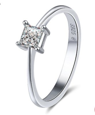 Princess Cut Sterling Silver 925 Engagement Ring UK Seller • 11.99£