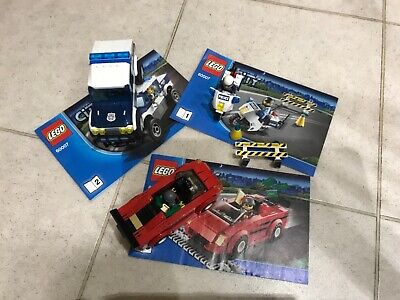 Lego City Police - 60007 (1, 2 And 3). Car, Bike And Robber • 2.20£