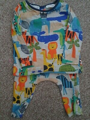 Baby Unisex Next Animal Print Outfit Size 3-6 Months • 2.60£