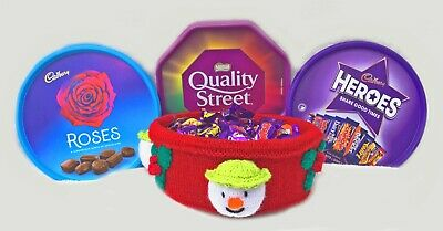 £2.99 • Buy KNITTING PATTERN - Christmas The Snowman Inspired Sweet Tub Cover - Roses