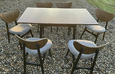 G Plan Dining Table And 6 Butterfly Chairs- Vintage/ Retro/ Mid Century • 161£