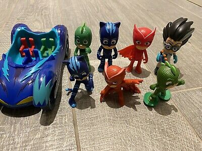 PJ Masks Figures Bundle With Catboy Cat Car  • 8.50£