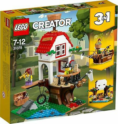£40.99 • Buy LEGO Creator Treehouse Treasure 31078 3 In 1 Set Retired New Pirate Ship Fort