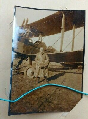 Original WW1 RFC Or Early RAF Homemade Photo Album Planes, Pilots, Crash Landing • 100£