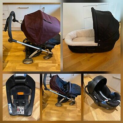 £59.99 • Buy Mamas And Papas Sola Pushchair/stroller Set With Car Seat, Isofix And Carrycot