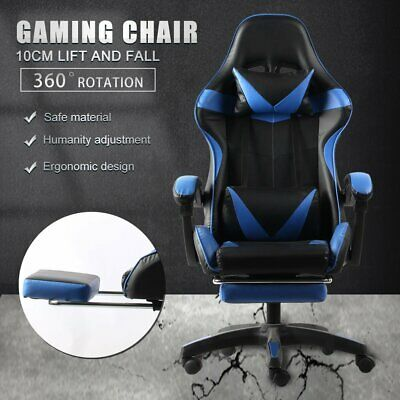 AU119.99 • Buy Gaming Chair Office Chair Computer Executive Chairs Seating Footrest Racer
