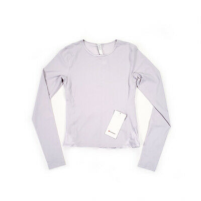$ CDN78 • Buy NWT [Size 6] Lululemon Womens Look Ahead Run Long Sleeve Iced Iris