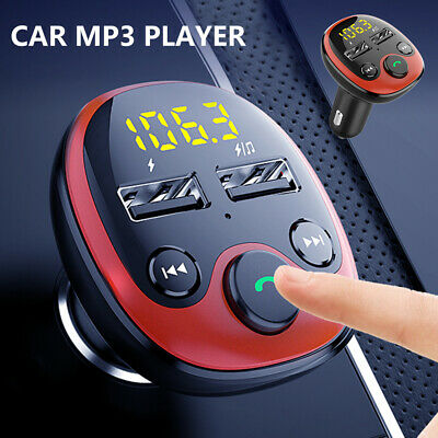 Car FM Transmitter Wireless Bluetooth Handsfree Kit MP3 Player USB Charger UK • 8.99£