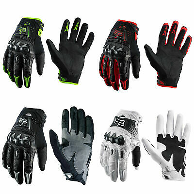 AU35 • Buy MX Fox Racing Bomber Black Motorbike Motocross Dirt Bike Protection Gloves