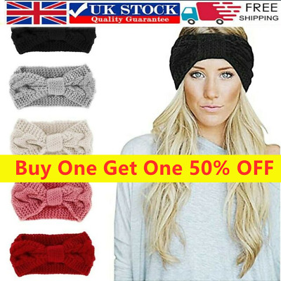 Knot Headband Knitted Winter Hair Band Crochet Womens Turban Twist Girl Bow UK • 4.29£