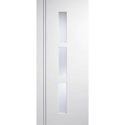Internal Glazed White Door SIERRA BLANCO Frosted Glass Wooden Interior Doors • 385.19£