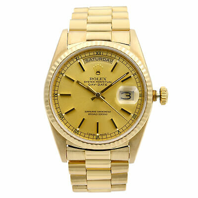 $ CDN21339.68 • Buy Rolex Day Date President 18K Yellow Gold Champagne Dial Mens Watch 18238