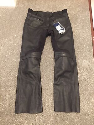 TRIUMPH Motorbike LADIES Leather Trousers Jeans Large New Size 14 16 Victoria • 72£