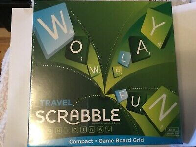 BNIB, Travel SCRABBLE, Compact Board Game From Mattel • 7£