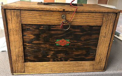 Neslein Wooden Engineers Toolbox & Tools / Cabinet / Collectors Chest Antique • 190£
