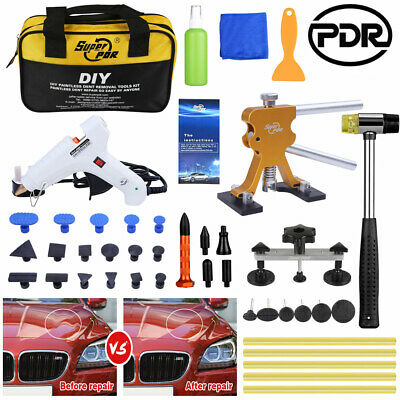 PDR Tools Paintless Car Dent Repair Kit Auto Body Panel Removal Puller Lifter UK • 34.59£