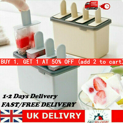DIY Ice Cream Mold Popsicle Maker Lolly Mould Tray Pan Kitchen Freezer • 4.74£