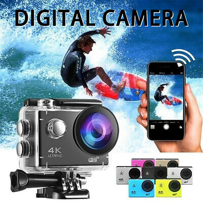 Action Camera 4K 1080P WiFi Camcorder Waterproof DV Sports Cam Remote Underwater • 22.09£