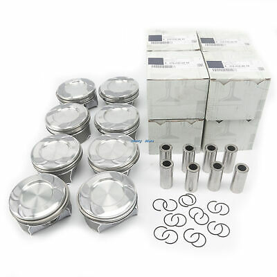 $860 • Buy 8x Pistons Rings Set Φ24mm Fit For Mercedes-Benz W166 W222 C218 M278 4.6L 4.7L