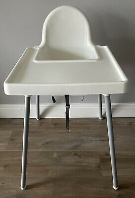 IKEA ANTILOP Baby Children High Chair With Safety Belt Feeding Tray Chair White • 9£