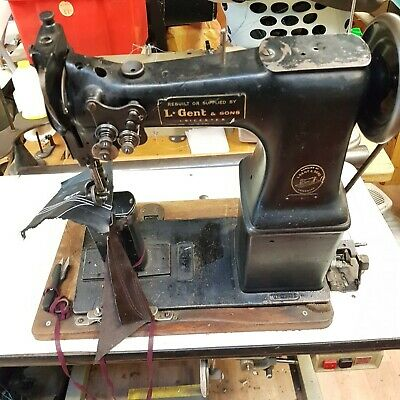 Vintage Singer 52W22 Twin Needle Post Bed Industrial Sewing Machine Motor Stand • 885£