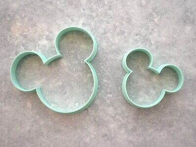 £4.99 • Buy Mickey Mouse Ears Disney Set Of 2 Fondant, Biscuit, Cookie Cutter