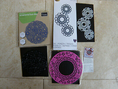 Job Lot X 3 Dies, Lace/Doily Circles • 7.50£