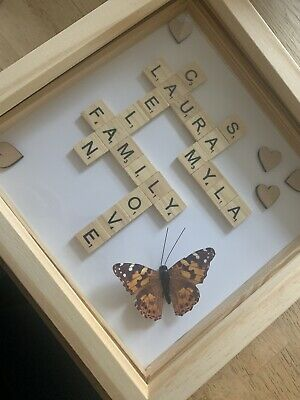 Scrabble Letters Words Personalised Picture Frame All Gift Occassions • 14.99£