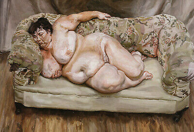 Benefits Supervisor Sleeping Lucian Freud Print In 11 X 14 Inch Mount SUPERB • 19.95£