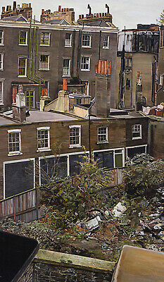 Wasteground & Houses Paddington Lucian Freud Print In 11 X 14 Inch Mount SUPERB • 22.95£