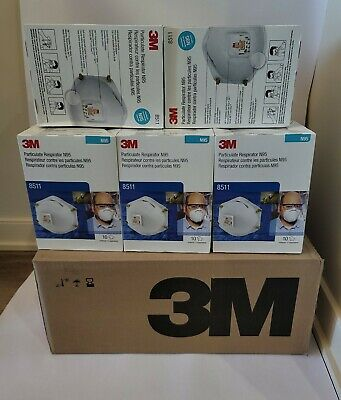 $ CDN28 • Buy 3M8511 Box Of 10 Brand New Expiry Date 09/2025 - Made In U.S.A.
