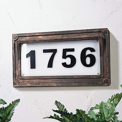 Solar Powered House Numbers, Address Sign Led Illuminated Outdoor Plaque Lighted • 39.15£