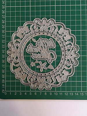 7pcs Large Flower Doily Die 'Little Words Of Love' Brand New Fast Free Postage • 10£