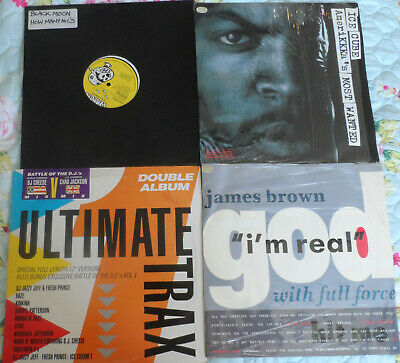 4 X Hip Hop 12  Vinyl, 1980s & 1990s. Ice Cube, James Brown, Black Moon • 9.99£