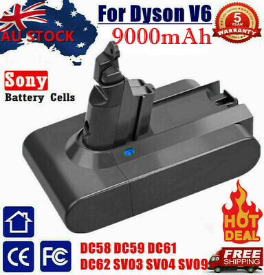 AU51.99 • Buy 8.5Ah Replacement For Dyson V6 Battery DC58 DC59 Animal 967810-21 Vacuum Cleaner
