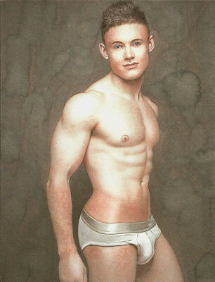 PRINT Of Artwork Drawing Painting Male Gay Interest MCicconneT ~ LIVE WITHOUT • 22.09£